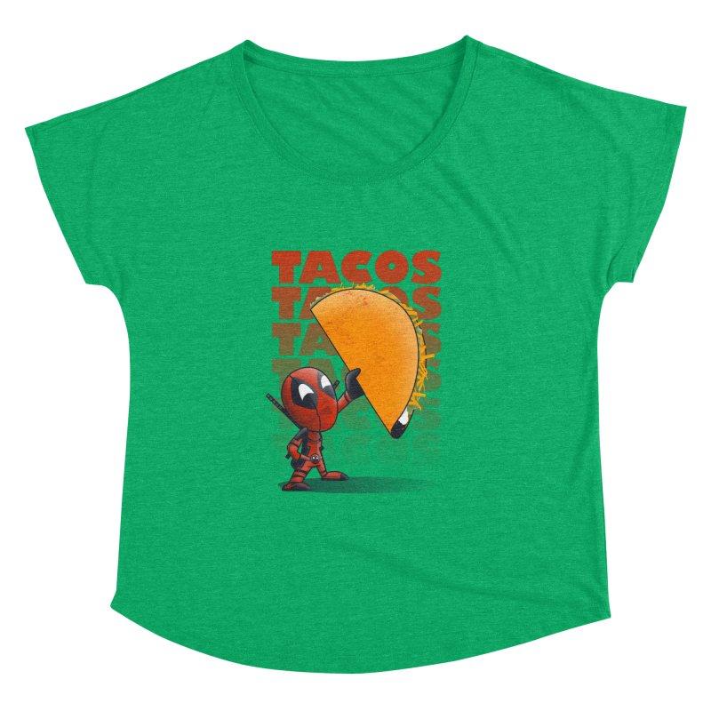 Tacos!!! Women's Dolman by doodleheaddee's Artist Shop