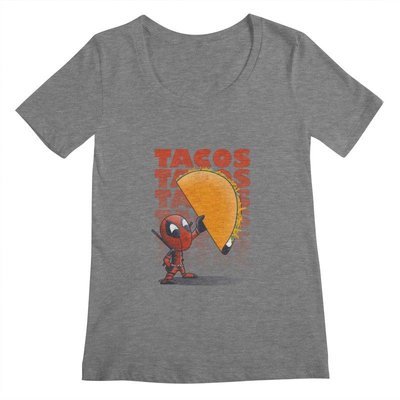 Tacos!!! Women's Scoopneck by doodleheaddee's Artist Shop
