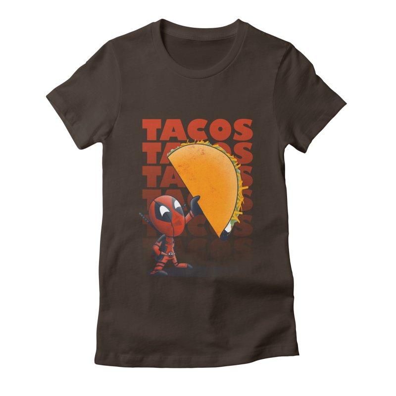 Tacos!!! Women's Fitted T-Shirt by doodleheaddee's Artist Shop