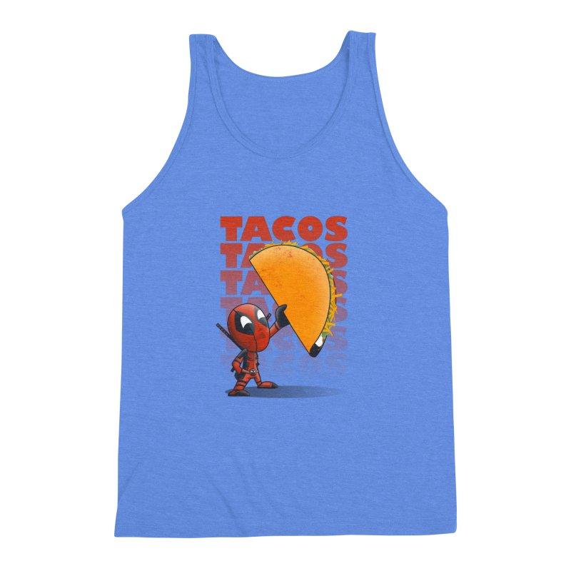 Tacos!!! Men's Triblend Tank by doodleheaddee's Artist Shop