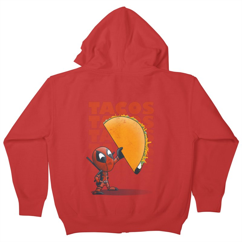 Tacos!!! Kids Zip-Up Hoody by doodleheaddee's Artist Shop