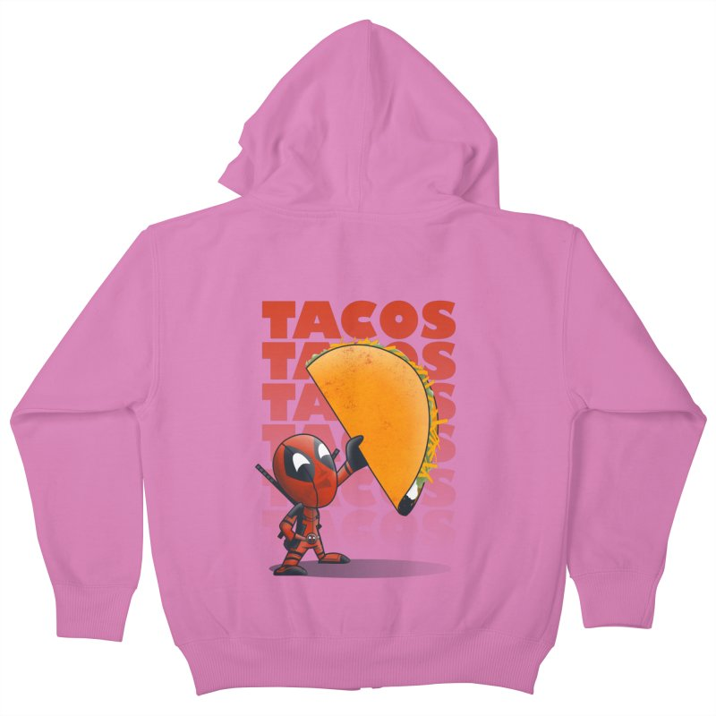 Tacos!!! Kids Zip-Up Hoody by doodleheaddee's Artist Shop