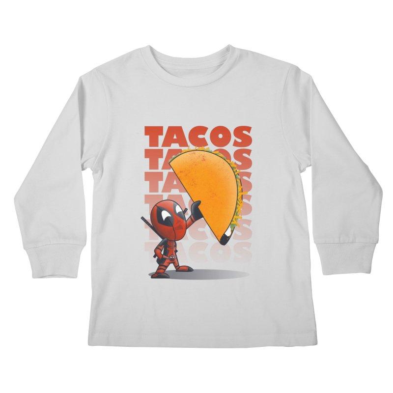 Tacos!!! Kids Longsleeve T-Shirt by doodleheaddee's Artist Shop