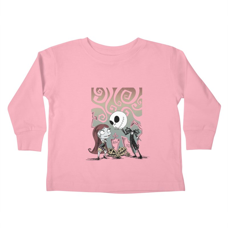 It's a Nightmare Kind of Love Kids Toddler Longsleeve T-Shirt by doodleheaddee's Artist Shop