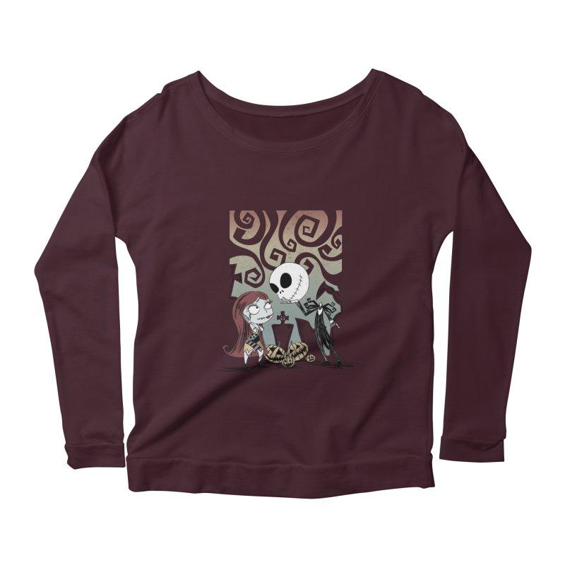 It's a Nightmare Kind of Love Women's Scoop Neck Longsleeve T-Shirt by doodleheaddee's Artist Shop