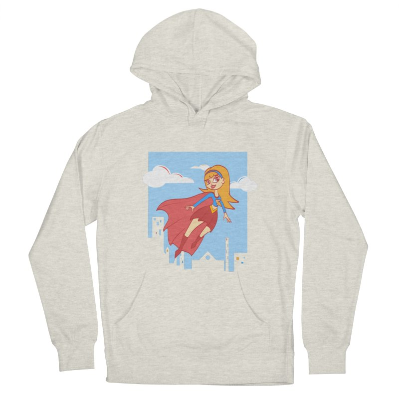 Be a Super Girl Women's French Terry Pullover Hoody by doodleheaddee's Artist Shop