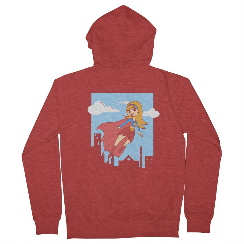 Be a Super Girl Women's French Terry Zip-Up Hoody by doodleheaddee's Artist Shop