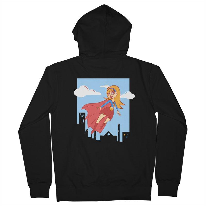 Be a Super Girl Women's Zip-Up Hoody by doodleheaddee's Artist Shop