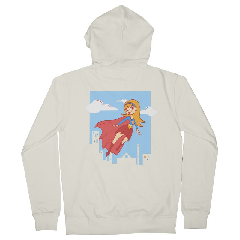 Be a Super Girl Women's Zip-Up Hoody by doodleheaddee's Artist Shop