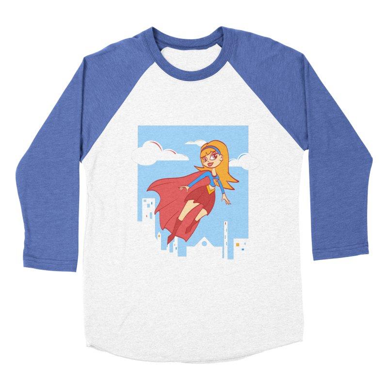 Be a Super Girl Women's Longsleeve T-Shirt by doodleheaddee's Artist Shop
