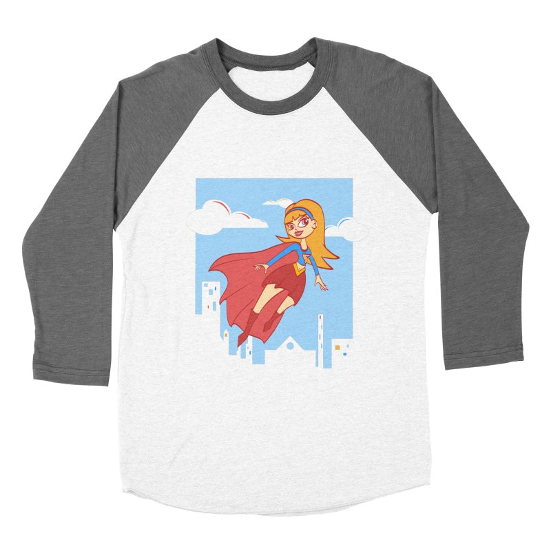 Be a Super Girl Women's Baseball Triblend T-Shirt by doodleheaddee's Artist Shop