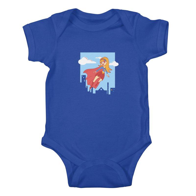 Be a Super Girl Kids Baby Bodysuit by doodleheaddee's Artist Shop