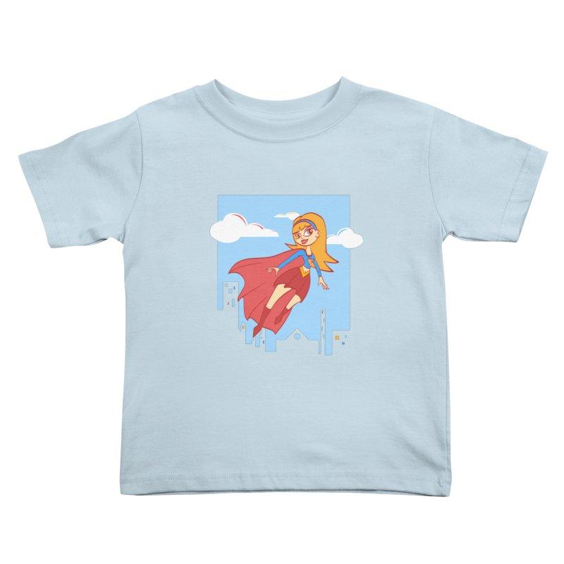 Be a Super Girl Kids Toddler T-Shirt by doodleheaddee's Artist Shop