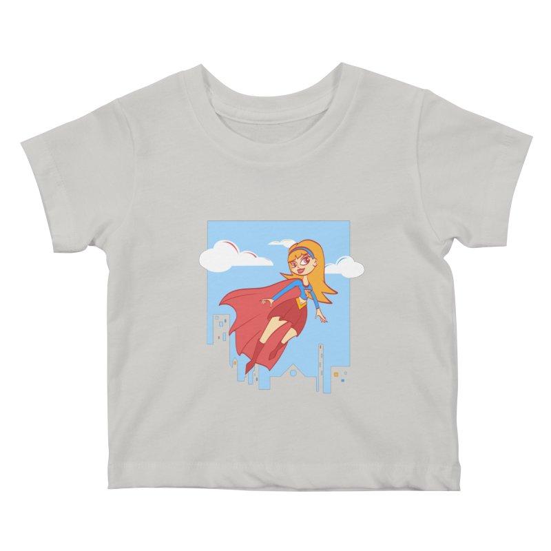 Be a Super Girl Kids Baby T-Shirt by doodleheaddee's Artist Shop