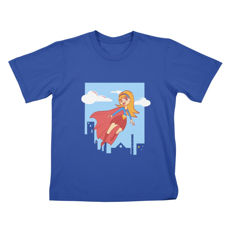 Be a Super Girl Kids T-Shirt by doodleheaddee's Artist Shop