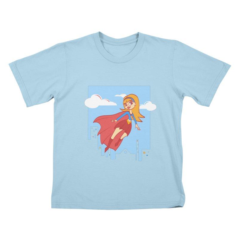 Be a Super Girl Kids T-Shirt by doodleheaddee's Artist Shop