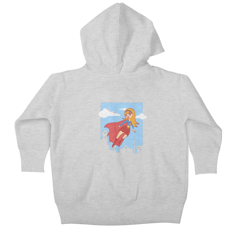 Be a Super Girl Kids Baby Zip-Up Hoody by doodleheaddee's Artist Shop
