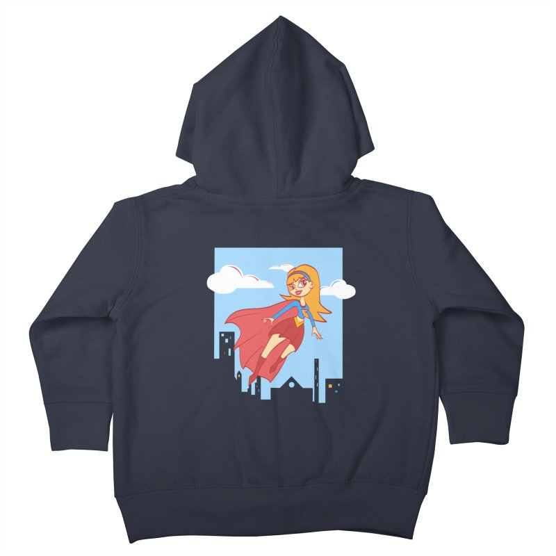 Be a Super Girl Kids Toddler Zip-Up Hoody by doodleheaddee's Artist Shop