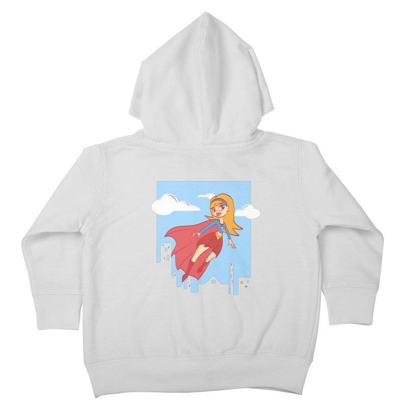 Be a Super Girl Kids Toddler Zip-Up Hoody by doodleheaddee's Artist Shop