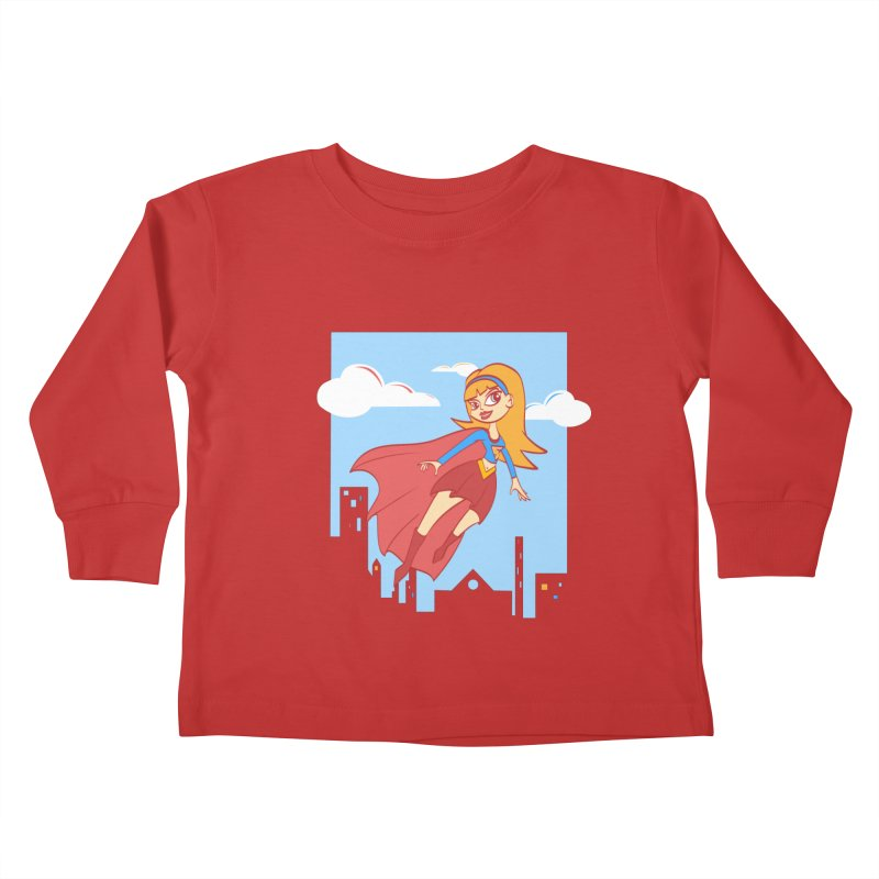 Be a Super Girl Kids Toddler Longsleeve T-Shirt by doodleheaddee's Artist Shop