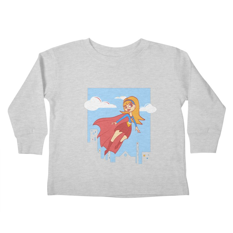 Be a Super Girl Kids Toddler Longsleeve T-Shirt by doodleheaddee's Artist Shop