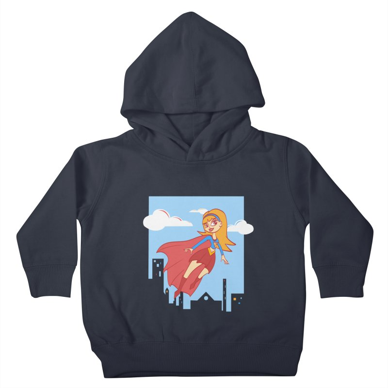 Be a Super Girl Kids Toddler Pullover Hoody by doodleheaddee's Artist Shop