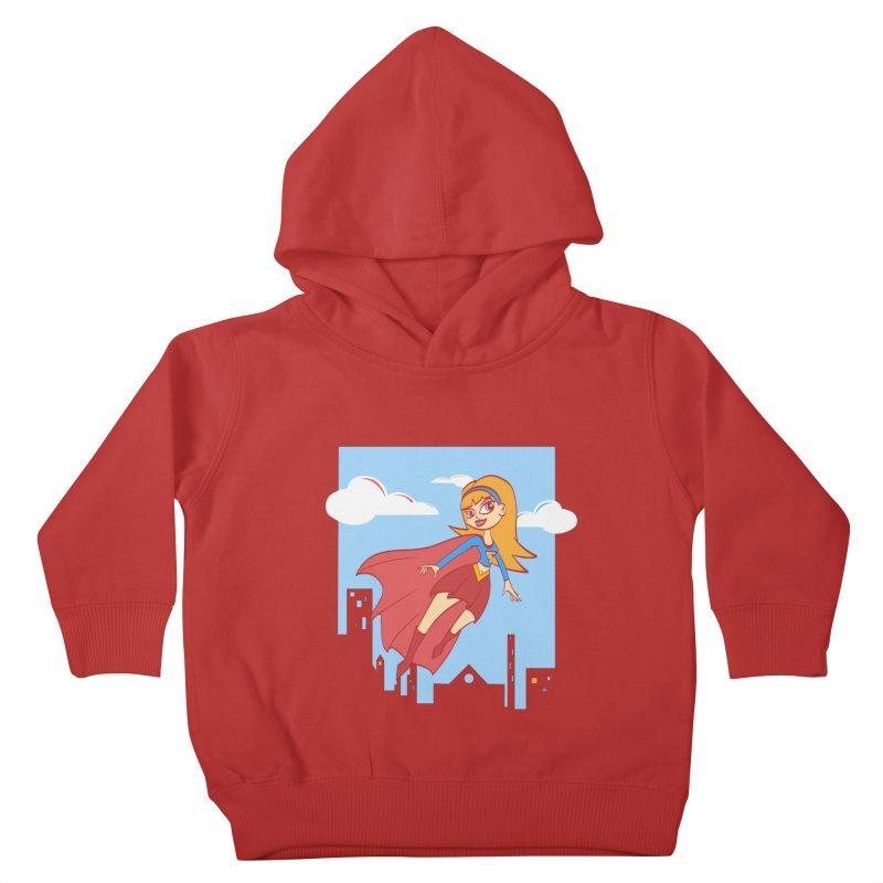 Be a Super Girl Kids Toddler Pullover Hoody by doodleheaddee's Artist Shop