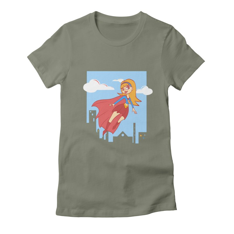 Be a Super Girl Women's Fitted T-Shirt by doodleheaddee's Artist Shop