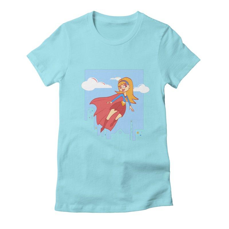 Be a Super Girl Women's Fitted T-Shirt by doodleheaddee's Artist Shop