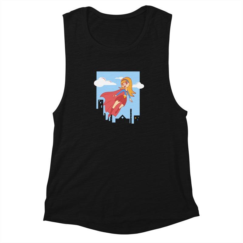 Be a Super Girl Women's Muscle Tank by doodleheaddee's Artist Shop
