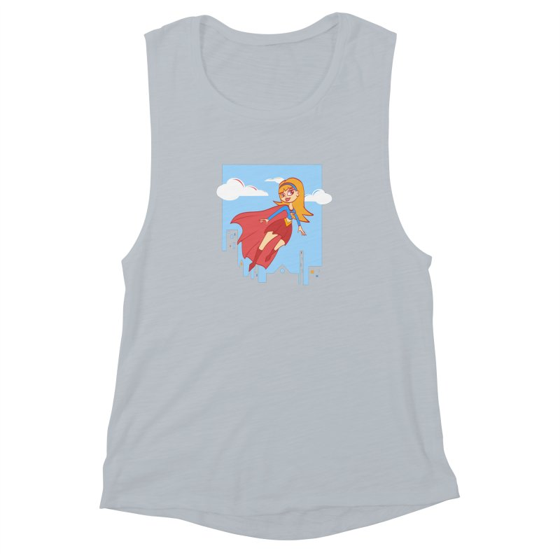Be a Super Girl Women's Muscle Tank by doodleheaddee's Artist Shop
