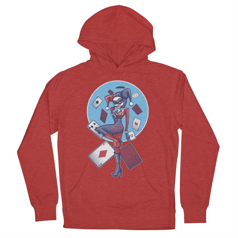 Harleys Card Game Women's French Terry Pullover Hoody by doodleheaddee's Artist Shop