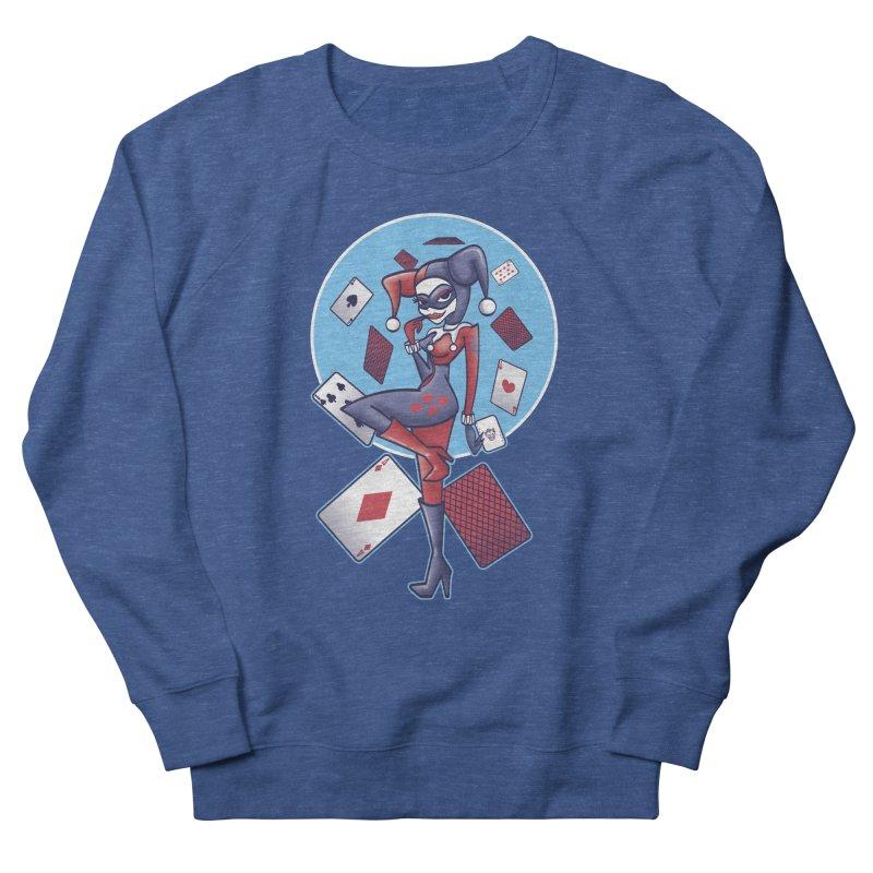 Harleys Card Game Men's French Terry Sweatshirt by doodleheaddee's Artist Shop