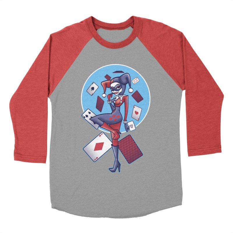 Harleys Card Game Women's Baseball Triblend T-Shirt by doodleheaddee's Artist Shop