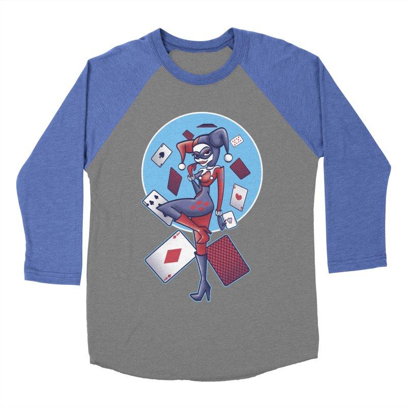 Harleys Card Game Men's Baseball Triblend Longsleeve T-Shirt by doodleheaddee's Artist Shop