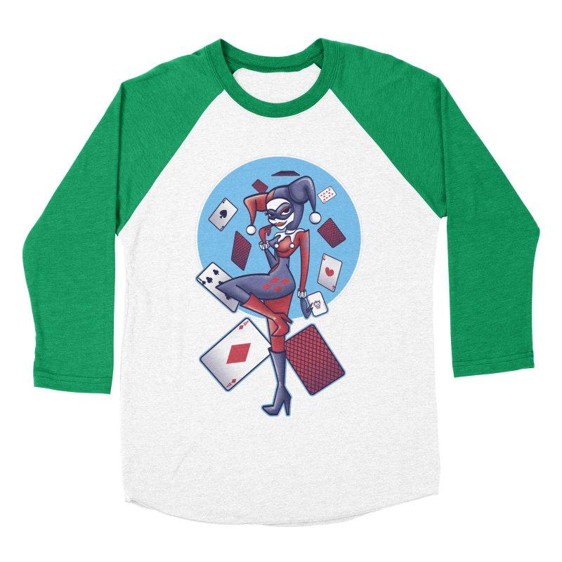 Harleys Card Game Men's Baseball Triblend T-Shirt by doodleheaddee's Artist Shop