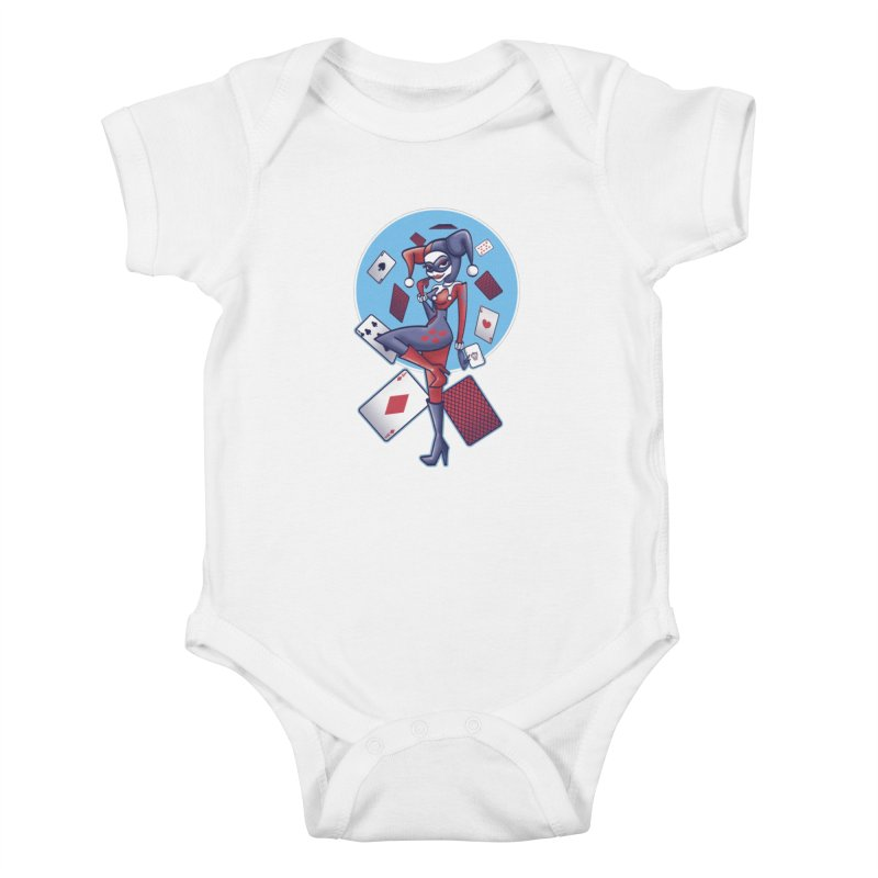 Harleys Card Game Kids Baby Bodysuit by doodleheaddee's Artist Shop