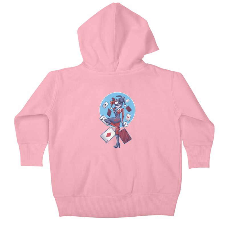 Harleys Card Game Kids Baby Zip-Up Hoody by doodleheaddee's Artist Shop