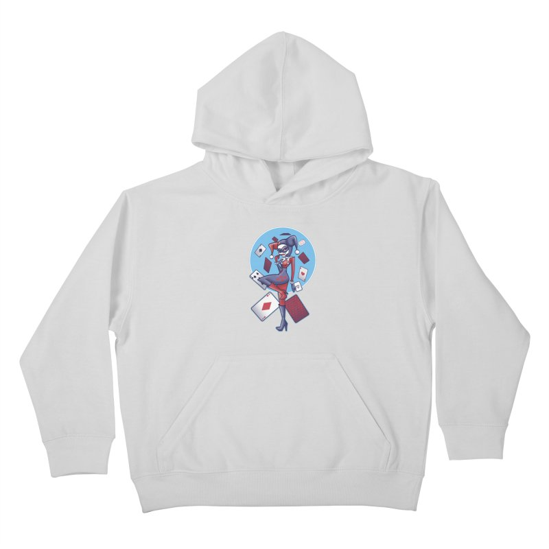 Harleys Card Game Kids Pullover Hoody by doodleheaddee's Artist Shop