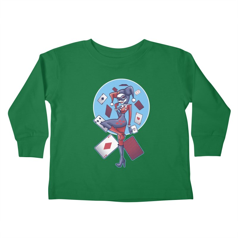 Harleys Card Game Kids Toddler Longsleeve T-Shirt by doodleheaddee's Artist Shop
