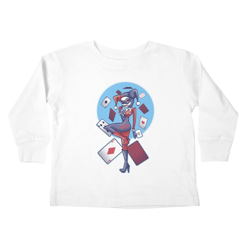 Harleys Card Game Kids Toddler Longsleeve T-Shirt by doodleheaddee's Artist Shop