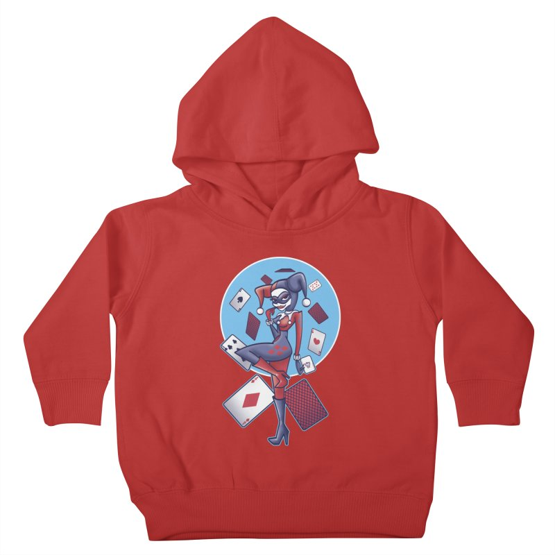 Harleys Card Game Kids Toddler Pullover Hoody by doodleheaddee's Artist Shop
