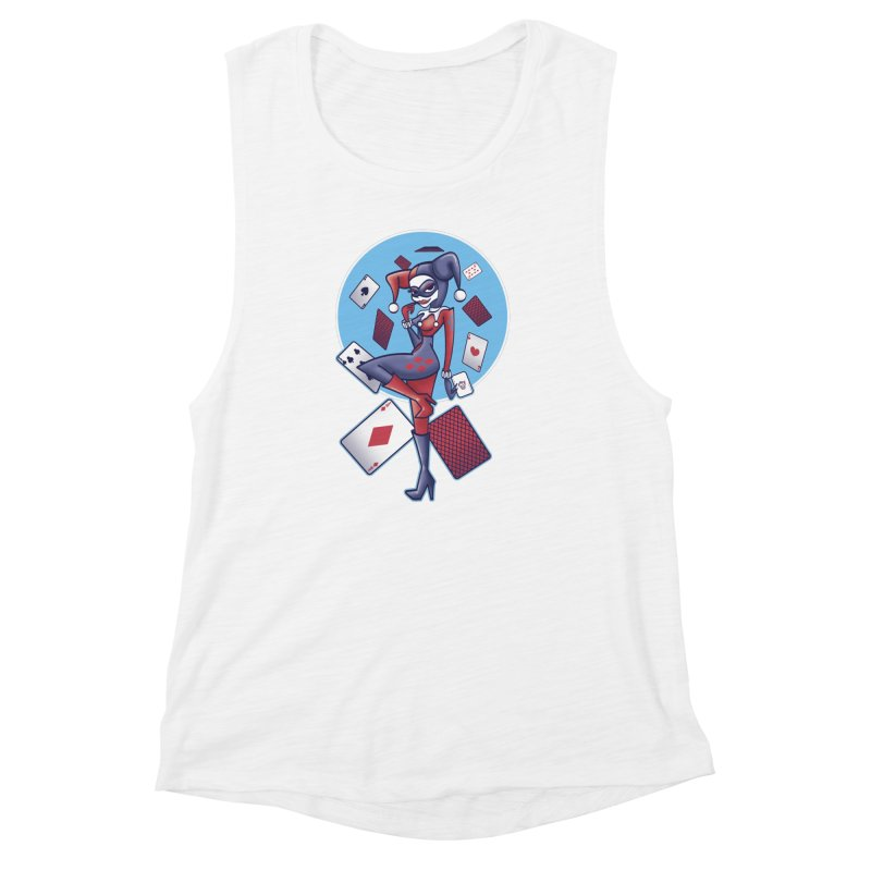 Harleys Card Game Women's Muscle Tank by doodleheaddee's Artist Shop