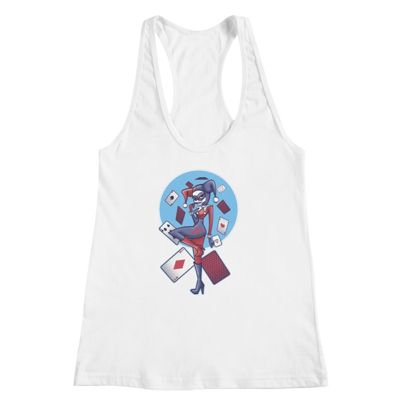 Harleys Card Game Women's Racerback Tank by doodleheaddee's Artist Shop