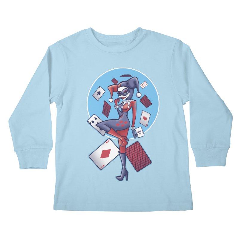 Harleys Card Game Kids Longsleeve T-Shirt by doodleheaddee's Artist Shop