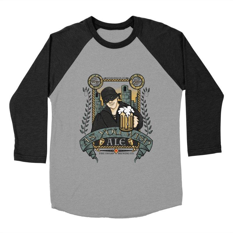 As You Wish Ale Men's Baseball Triblend Longsleeve T-Shirt by doodleheaddee's Artist Shop