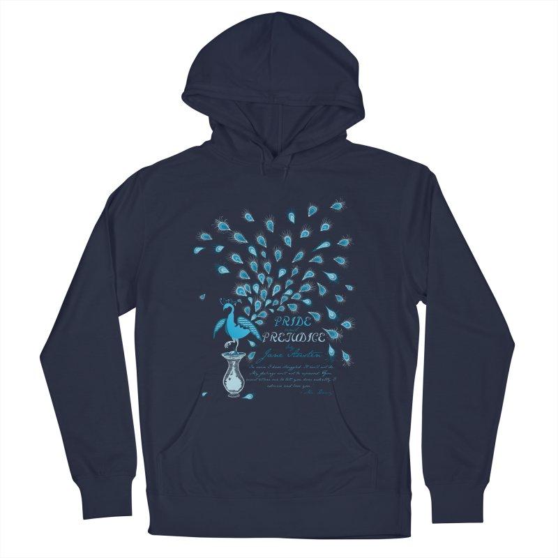 Paisley Peacock Pride and Prejudice Women's French Terry Pullover Hoody by doodleheaddee's Artist Shop