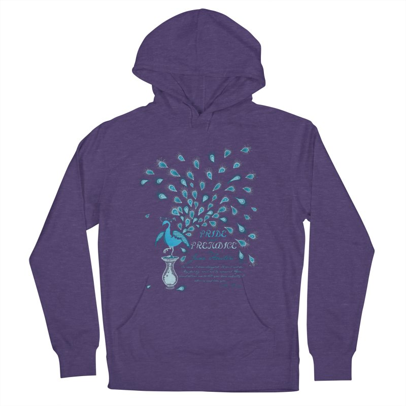 Paisley Peacock Pride and Prejudice Men's French Terry Pullover Hoody by doodleheaddee's Artist Shop