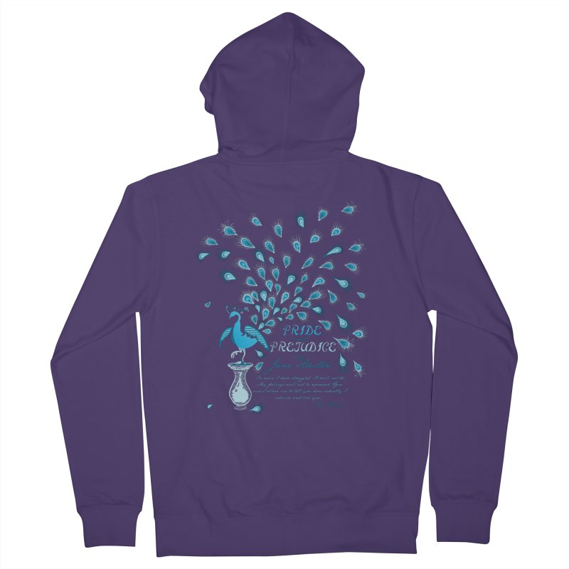 Paisley Peacock Pride and Prejudice Women's French Terry Zip-Up Hoody by doodleheaddee's Artist Shop