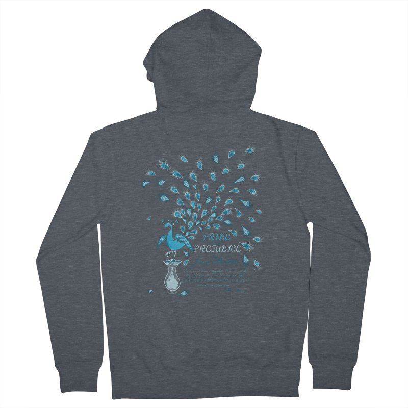 Paisley Peacock Pride and Prejudice Men's French Terry Zip-Up Hoody by doodleheaddee's Artist Shop